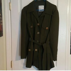 Moschino Cheap and Chic olive green trench coat 🧥